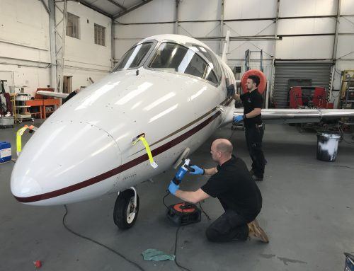 Cleaning and Polishing the Beech Jet